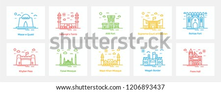 Pakistani Landmarks Icons