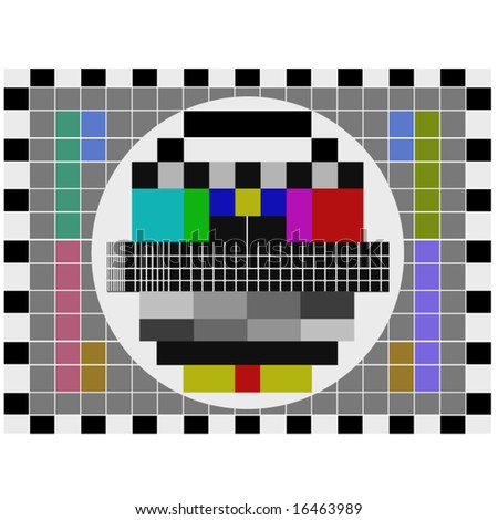 stock vector : PAL tv pattern signal for test purposes - also available as