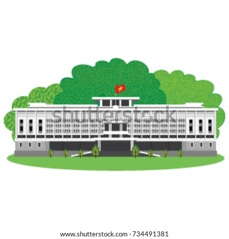 palace in illustration