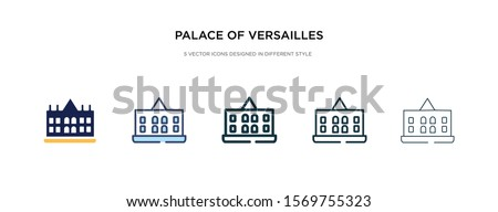 palace of versailles icon in