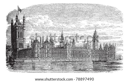 palace of westminster or houses ...