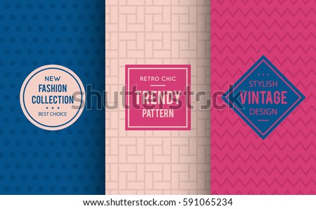 Pale dogwood seamless pattern background. Vector illustration for fashion design. Abstract geometric frame. Stylish decorative label set. Decoration texture wallpaper package. Neutral color combos