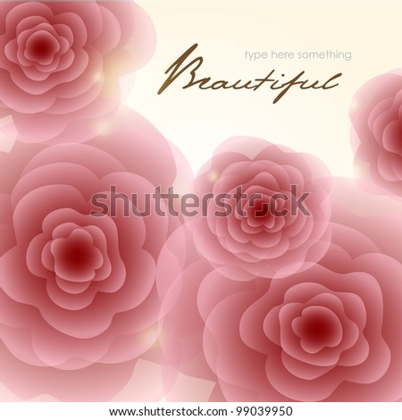Abstract Romantic Rose Square Background. Stock Illustration ...