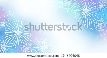 pale watercolor fireworks