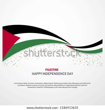 Palestine Happy independence day Background