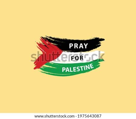 Palestine texture flag design. Free Palestine the boy stand with flag Vector illustration background. Pray for Palestine flag wallpaper, flyer, banner, t-shirt, post vector illustration