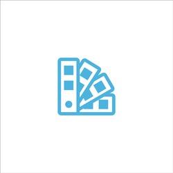 palette color icon flat vector logo design trendy illustration signage symbol graphic simple