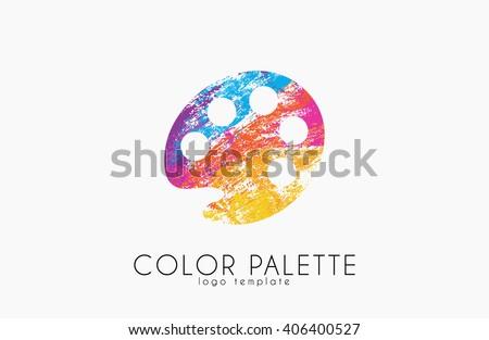 palette Icon. color palette symbol. art logo