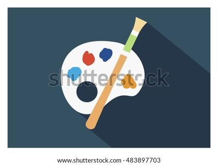 palette simple flat icon