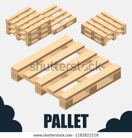 pallet for boxes and delivery