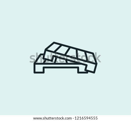 Pallet icon line isolated on clean background. Pallet icon concept drawing icon line in modern style. Vector illustration for your web mobile logo app UI design.