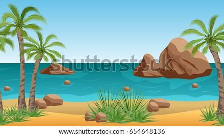 palm beach landscape for scene