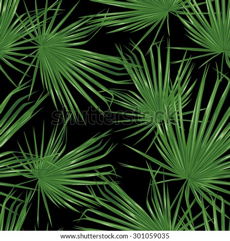 palm branches dark seamless