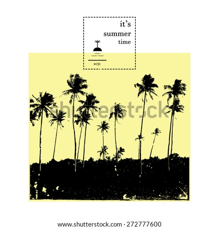 palm collection vector