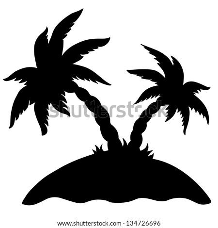 Island Silhouette Clip Art Palm island isolated blackIsland Silhouette Clip Art