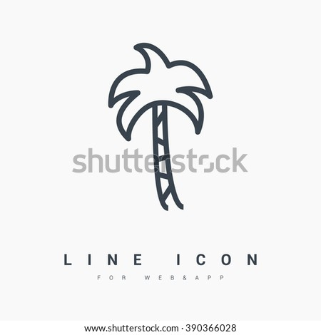 palm isolated minimal single