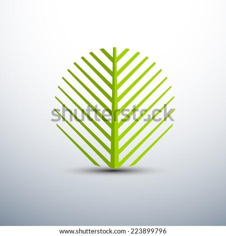 palm leaf icons circle shape