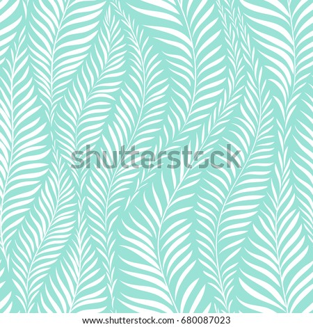 Palm leaf pattern. Vector illustration. Decor element