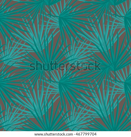 Palm Leaf Vector Seamless Pattern Background Illustration EPS10