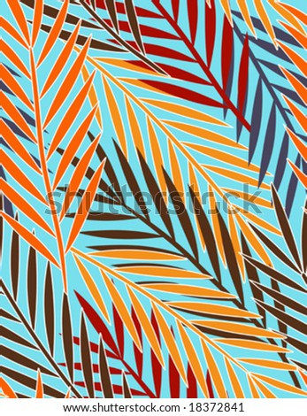 palm leaves - seamless pattern