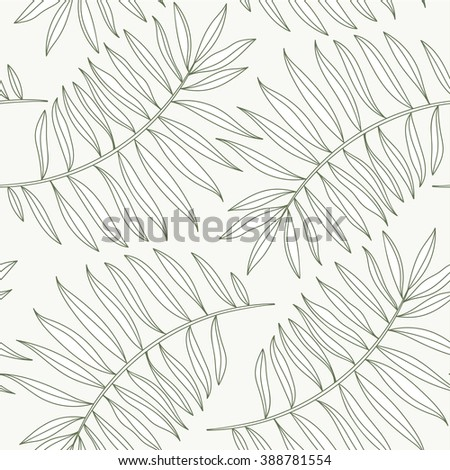 palm leaves silhouettes pattern