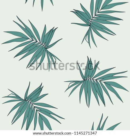 palm leaves vector seamless