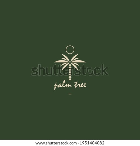 Palm logo for your design. Palm trees. Palm vector illustration. Icon sign.