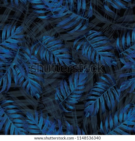 palm monstera seamless pattern