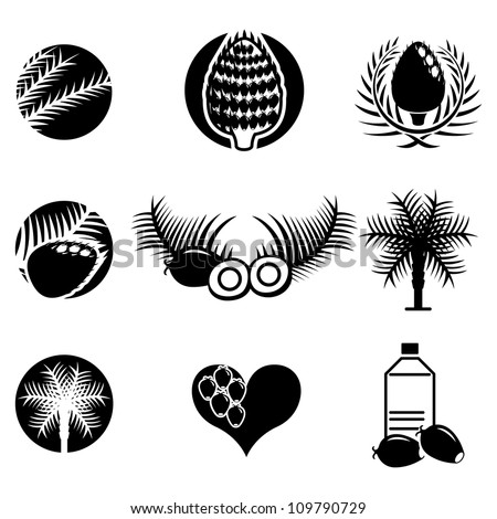 Royalty Free Stock Photos And Images Palm Oil Icons Set