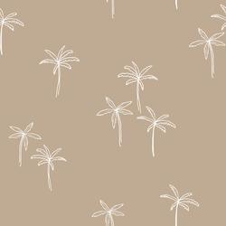 Palm pattern. Vector seamless simple pattern. Modern stylish texture. Palm tree - vector.