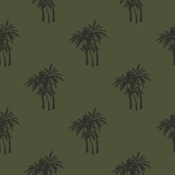 palm print, vector seamless pattern for clothing or print