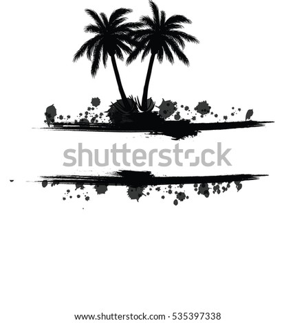 palm silhouette with headline