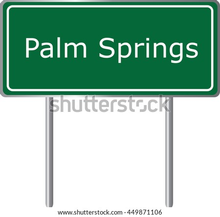 palm springs   florida  road