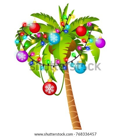 palm tree decorated with