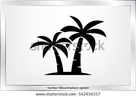 palm tree icon vector