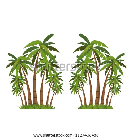 Palm tree icons vector.