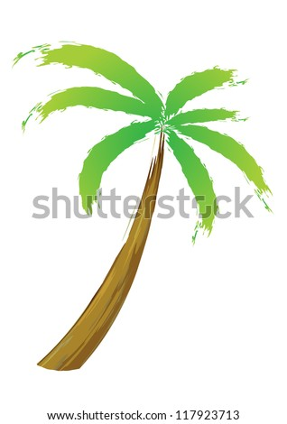 Palm tree, isolated vector illustration