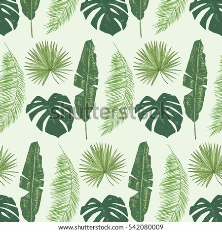 royalty free palm tree leaves pattern 542546059 stock photo