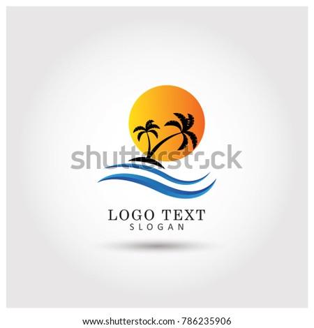 Palm Tree Logo Mbol Icon Vector Template Ez Canvas