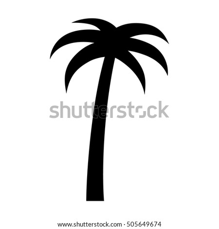 Palm tree or coconut tree flat vector icon for vacation apps and websites