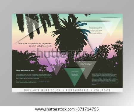 palm tree poster and print