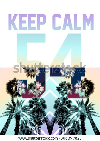 palm tree print with number and