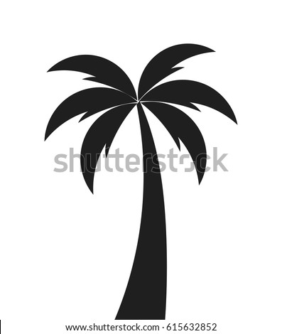 Palm tree shape icon. Vector illustration