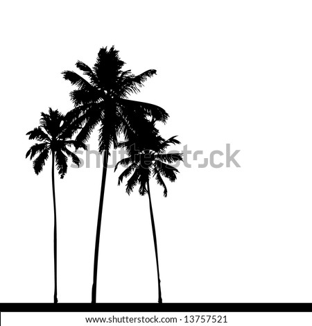 Palm Tree Silhouette Clip Art