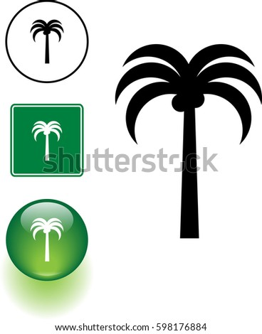 Vector Images Illustrations And Cliparts Palm Tree Symbol Sign And