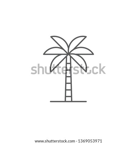 Palm tree vector icon flat style design isolated on white background
