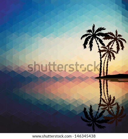 palm trees against the evening
