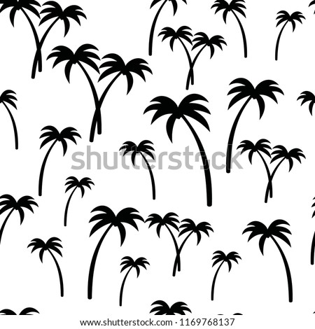 palm trees pattern seamless. vector background eps 10