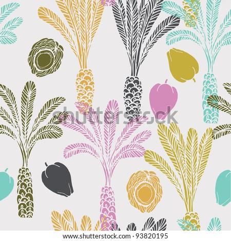 Palm trees. seamless pattern