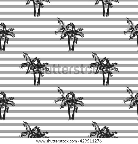 palm trees seamless vector